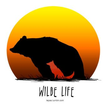 Wilde Life - Bear and Wolf by Lepas