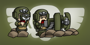 Carbot W40K A.M. : Cadian heavy weapon squad by CountryGump