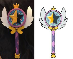 Star vs. the Forces of Evil Wand by princessfromthesky