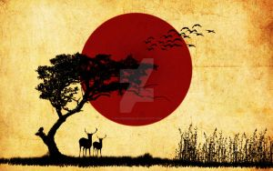sunset in savana by posters0809