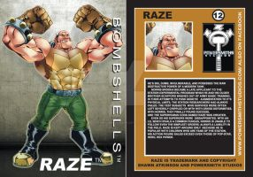Raze card (front+back) by ShawnAtkinson
