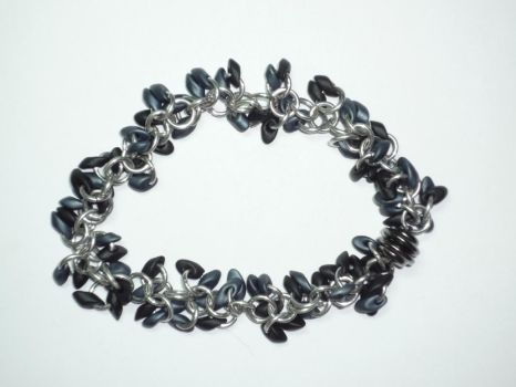 Black and Gunmetal bracelet by polybag