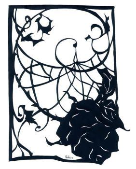 Paper Cutting 4 - Rose by elanor-pam