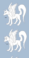 Free Winged Wolf Bases by EnixeAdopts