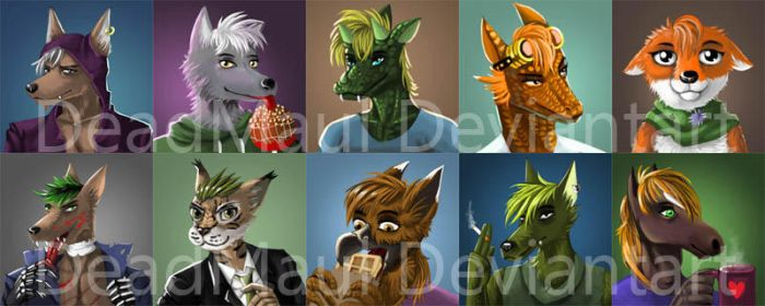 Furry Icons set by DeadMaul