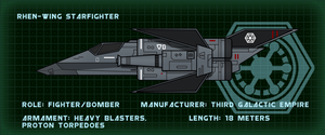 Technology Profile: Rhen-wing Starfighter by RvBOMally