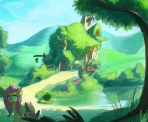 Fluttershy's home by Montano-Fausto