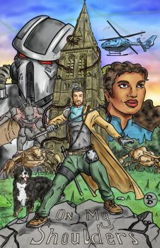 On my shoulders Comic Book Cover by DerekDwyer