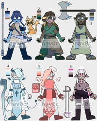 DND THEMED ADOPTABLES!!! by OctoberWay