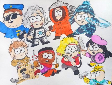 South Park Phone destroyer team by theguywhodrawsalot