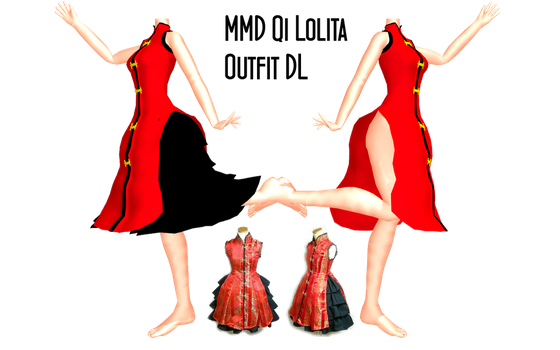 MMD Qi Lolita Outfit DL by 2234083174