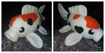 Sanke Koi fish Plush Commission by Gemlettuce