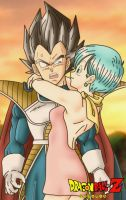 the prince vegeta and bulma by DrabounZ