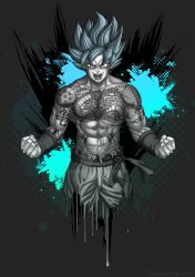 Goku's Tattoos by Bomu