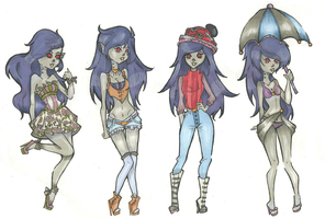 Marceline Outfits by Aii-Cute