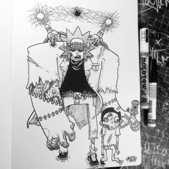 FrankenRick and Zombie Morty by MFMugen