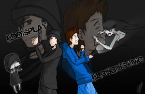 Fanart Eddisplay y elrubiusOMG by Guille300