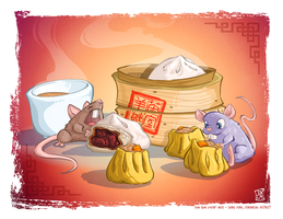 Dim Sum Lovin' Mice by WaffleJuey