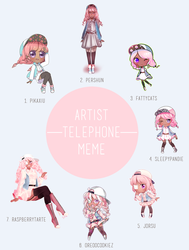 Telephone Meme by pikaxiu