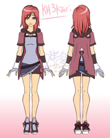 Kh3 Kairi-front-back by Fire-Star-Animations