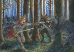 Red Riding hood vs Werewolves by HunterBeingHunted