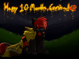 Happy 10 months Grin by Spottedfire-cat