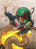 Boba Fett Escapes the Sarlacc Pit by JTampa