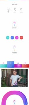 Creative Logo design for smart solutions by ahmedelzahra