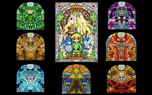 Stained Glass Sages wallpaper by xoxlabella