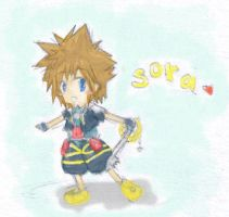 Chibi Sora colored by C2ii