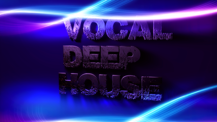 Vdeep house music wall by LinehoodDesign