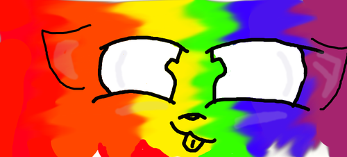 Rainbow Cat smiley face by KittyReviewsiscringy