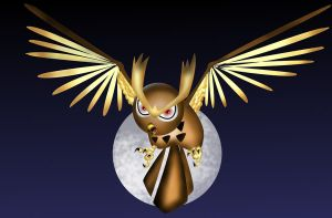 noctowl and the moon