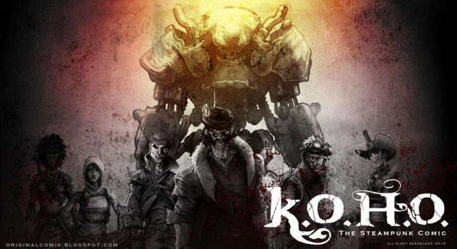 K.O.H.O. post-steampunk comicbook from Europe by BartaSzabolcs
