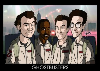 Ghostbusters in colour... by stayte-of-the-art