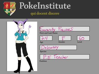 PI Physical Education Teacher: Serenity Fauxes by Roxify