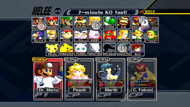 Super Smash Bros. Melee HD Update (DOWNLOAD) by ConnorRentz