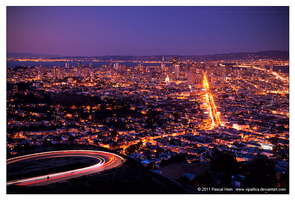 San Francisco Nighttime by Vipallica