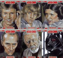 Star Wars 30 sketch cards pt9 by gattadonna