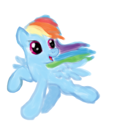 fanart: Young RainbowDash MLP NOT MY CHARACTER by WhiteLedy