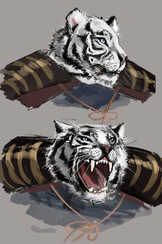 White tiger character design by veerlez