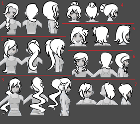 Fusionfall Hair Suggestions by floraxj9