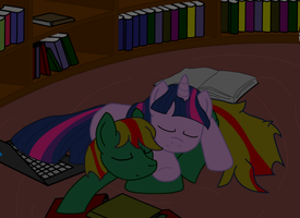 Verdant and Twilight sleeping by Tassadoul