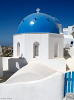 White and Blue - Oia by BenHeine
