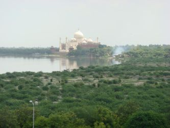 Taj Mahal from a Distance by childlogiclabs