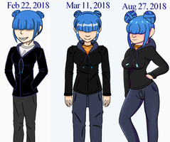 OC Luna Progress by BlueNightingales