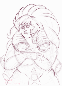 Rose Quartz(digital Sketch) by Richiewolf