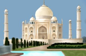 The Taj Mahal by amara1679