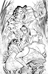 Alice In Wonderland - Inks by J-Skipper