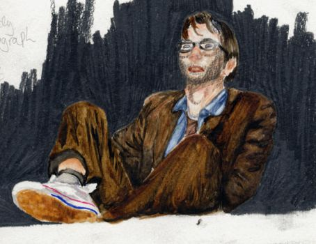 David Tennant Watercolour by David-Tennant-Fans
